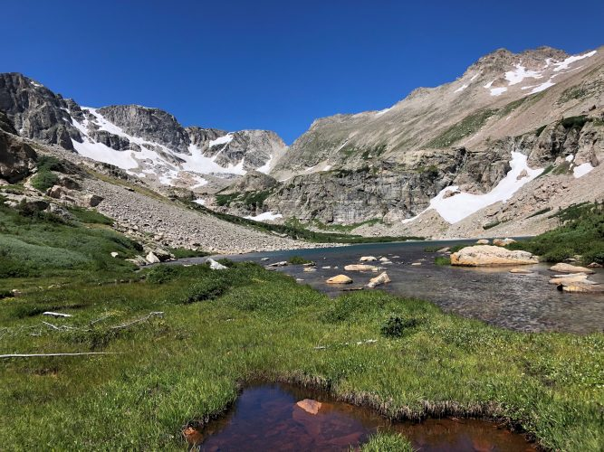 Hutcheson Lakes in Rocky Mountain National Park